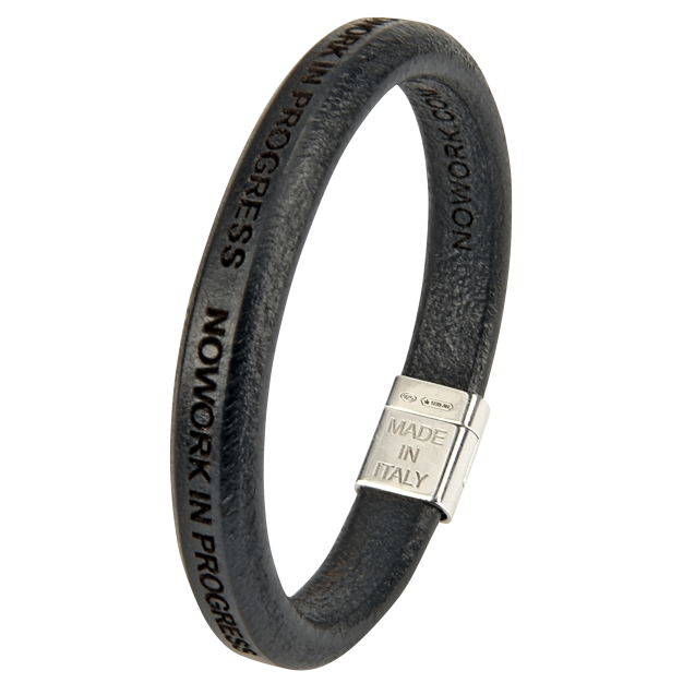 NOWORK IN PROGRESS Men Black Bracelet