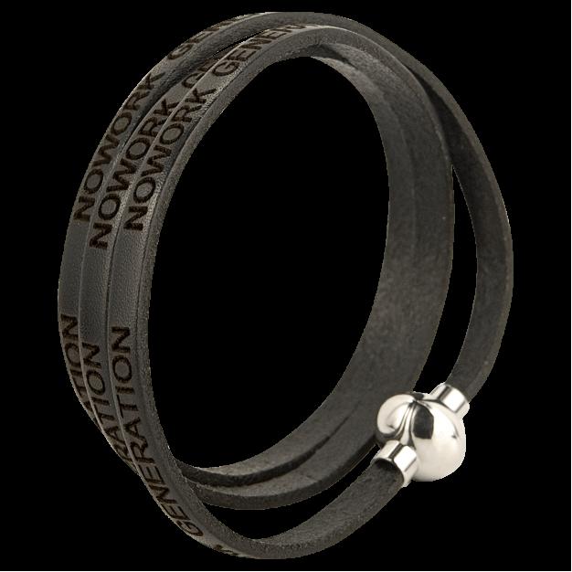 NOWORK GENERATION Black Bracelet