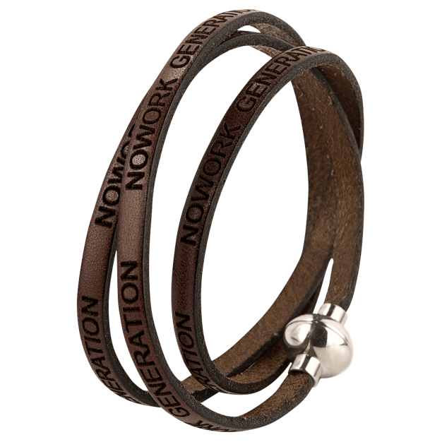 NOWORK GENERATION Brown Bracelet