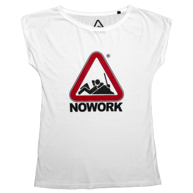 NOWORK Women's White T-Shirt