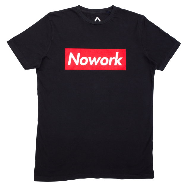 NOWORK Text Black T-Shirt